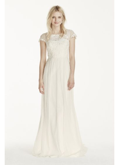 Long Sheath Vintage Wedding Dress - Galina