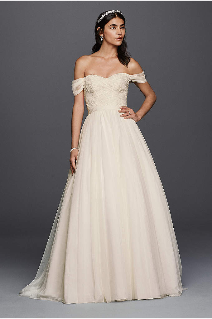 Tulle Beaded Lace Sweetheart Wedding Dress