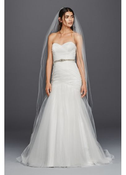 Strapless Sweetheart Mermaid Tulle Wedding Dress WG3791
