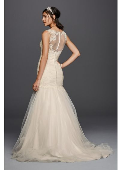Tulle Trumpet with Illusion Back Wedding Dress WG3792