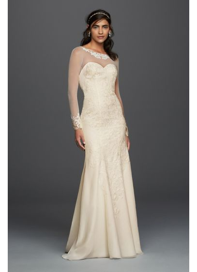 long sheath formal wedding dress davids bridal collection
