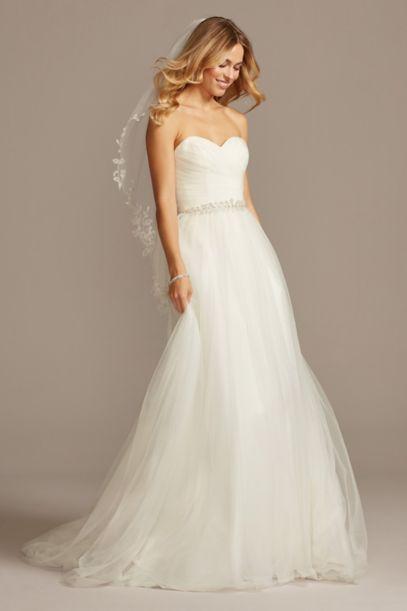 Strapless Sweetheart Tulle Wedding Dress - Davids Bridal