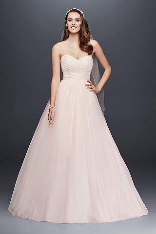 Pink wedding dresses gowns davids bridal long ballgown formal wedding dress davids bridal collection junglespirit Images