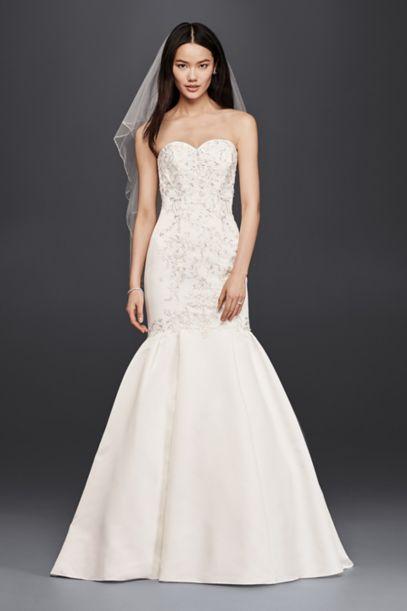 Trumpet Wedding Dress with Lace Bodice | David's Bridal