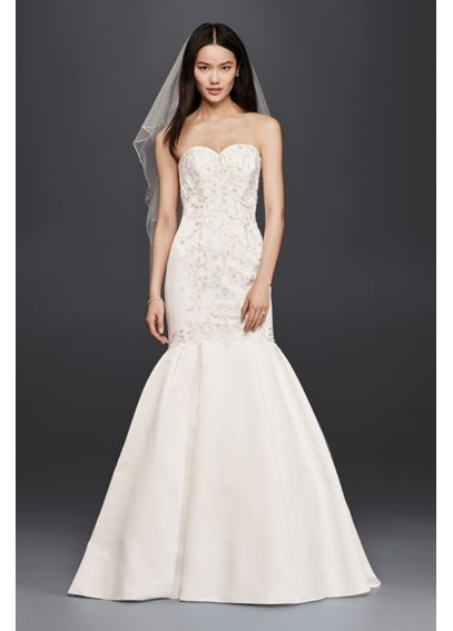Trumpet Wedding Dress with Lace Bodice WG3810
