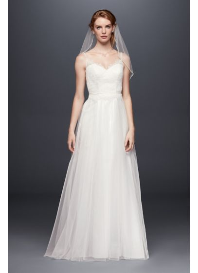Long Sheath Beach Wedding Dress - David's Bridal Collection