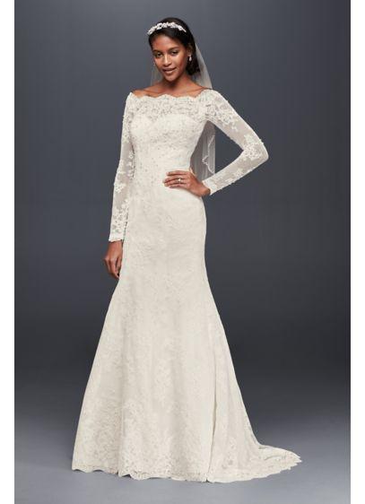 Long Mermaid/ Trumpet Romantic Wedding Dress - Jewel