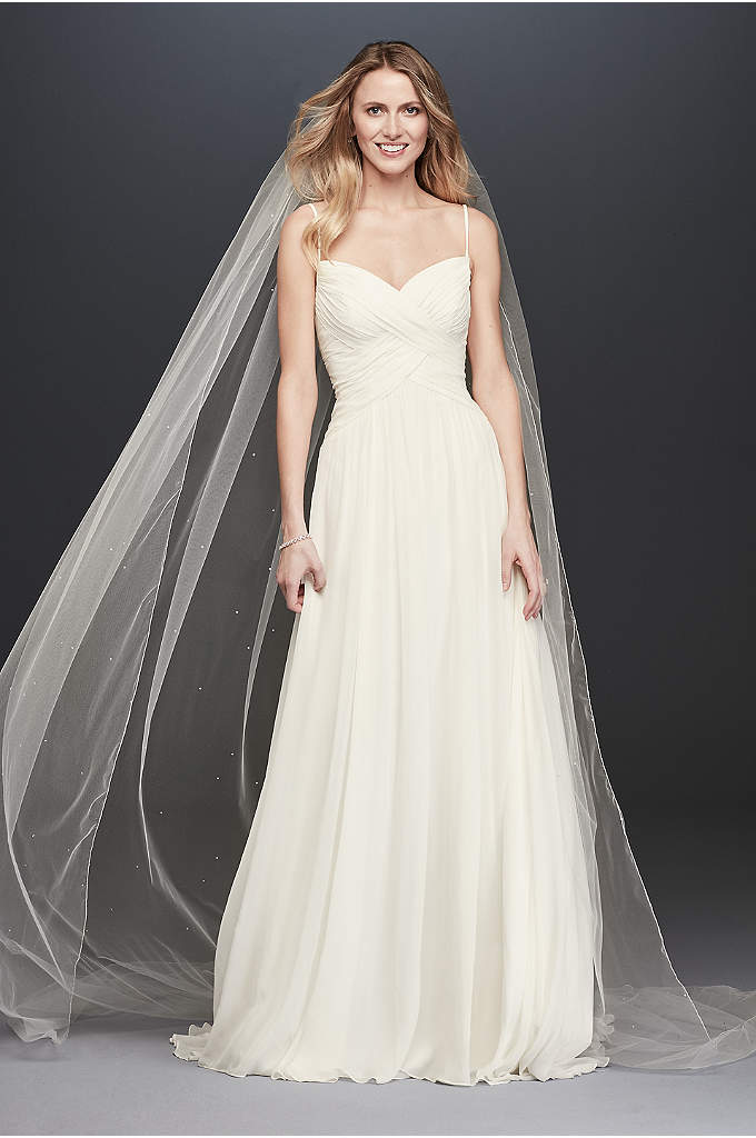 Ruched Bodice Chiffon A-Line Wedding Dress - A sweet and simple wedding dress, perfect for
