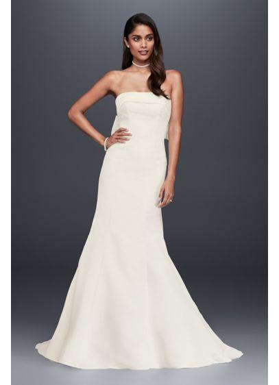 Long Mermaid Trumpet Simple Wedding Dress