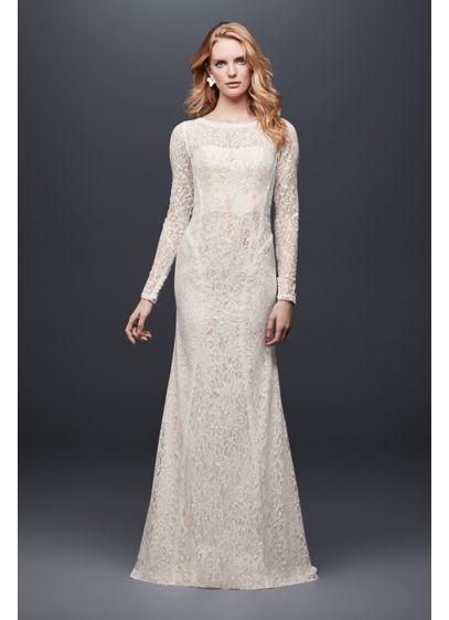 Long Sheath Country Wedding Dress - Galina