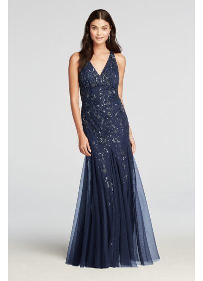 Long Mermaid/ Trumpet Halter Prom Dress - David's Bridal