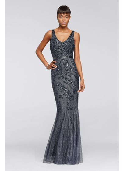 Long Mermaid/ Trumpet Tank Military Ball Dress - David's Bridal