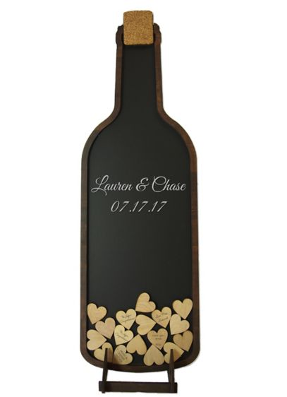 Personalized Wine Bottle Drop Heart Guest Book - Wedding Gifts & Decorations