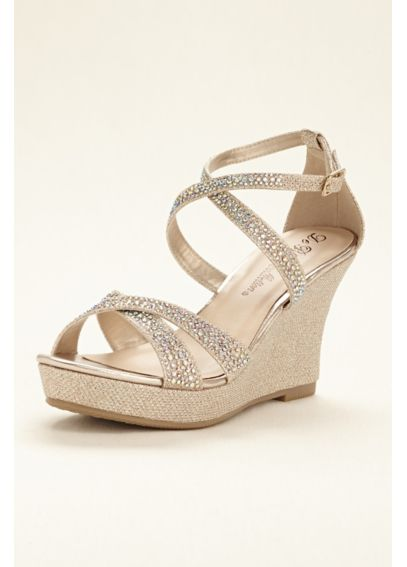 Crystal Cross Strap Wedge Sandal WINNI5A
