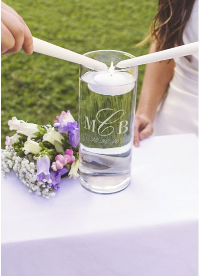 Personalized Monogram Floating Unity Candle - Wedding Gifts & Decorations