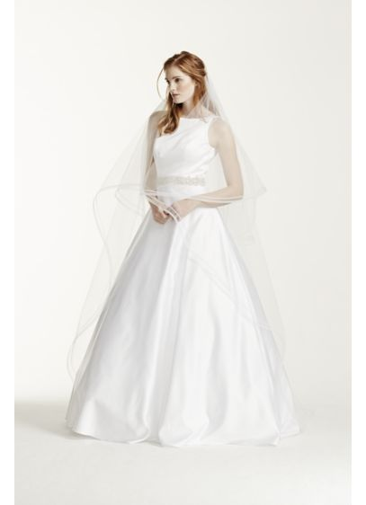 Two Tier Cathedral Vapor Edge Veil - Wedding Accessories