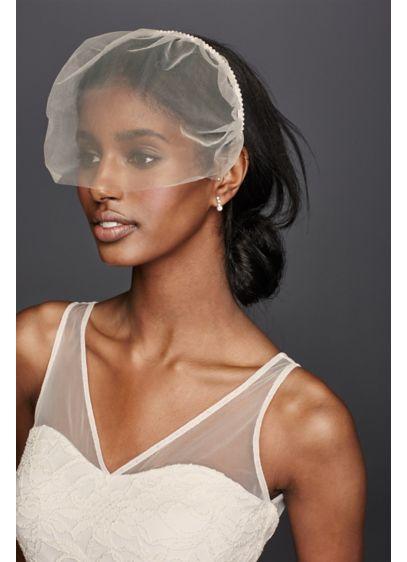 Tulle Headband Blusher - Wedding Accessories