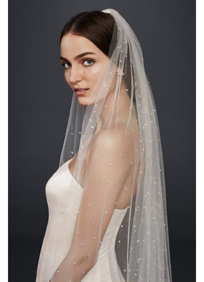Scattered Crystal Cathedral Veil - Wedding Accessories