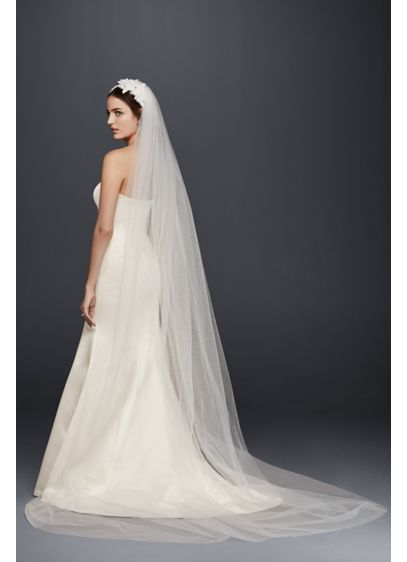 Chapel Veil With Embellished Headband David S Bridal