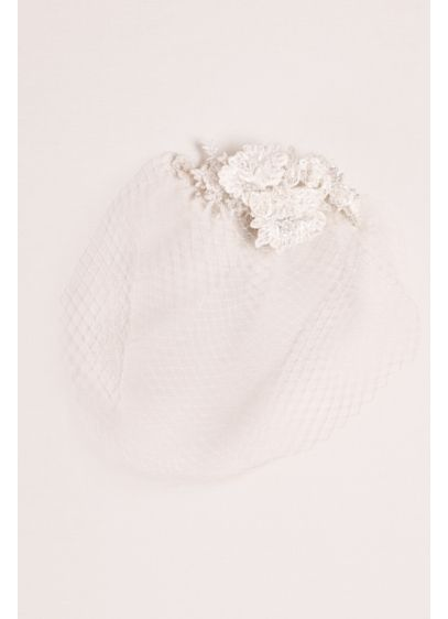 Blusher Veil with Beaded Lace - Wedding Accessories
