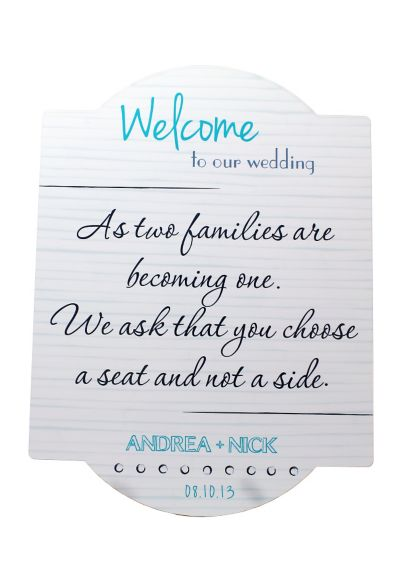 Personalized Wedding Seating Chart Sign WS50