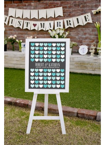 Personalized Hearts Signature Guest Book - Wedding Gifts & Decorations