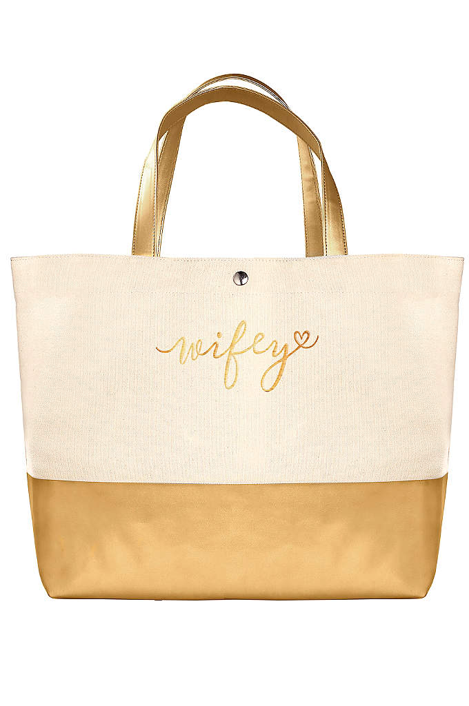 DB Exclusive Wifey Metallic Dipped Tote Bag - The DB Exclusive Wifey Metallic Dipped Tote Bag