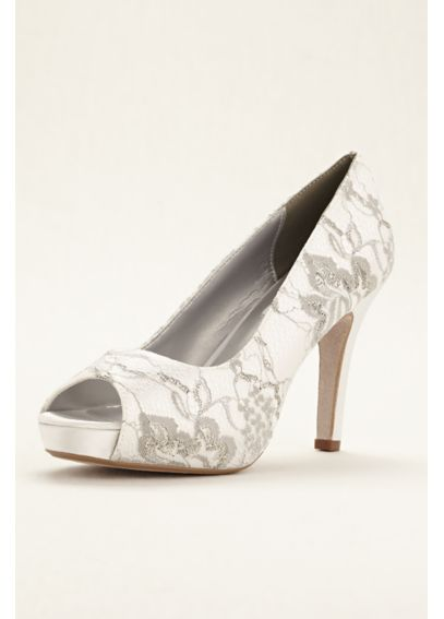 Winter Dyeable Metallic Lace Pump Winter