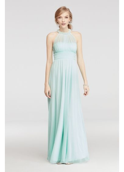 Long A-Line Halter Prom Dress - Speechless