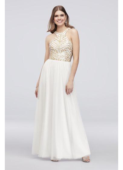 Long A-Line Halter Formal Dresses Dress - Speechless