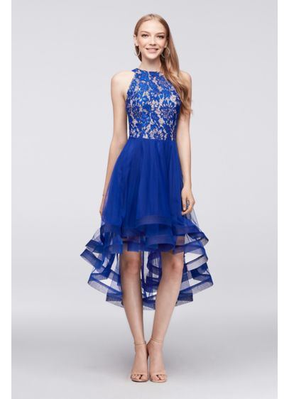High Low Ballgown Halter Cocktail and Party Dress - Speechless