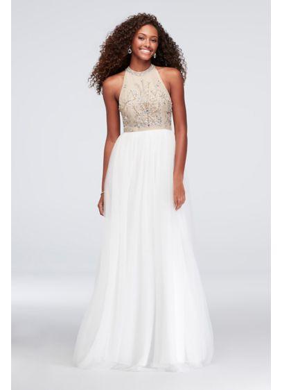 Long Ballgown Halter Prom Dress - Speechless