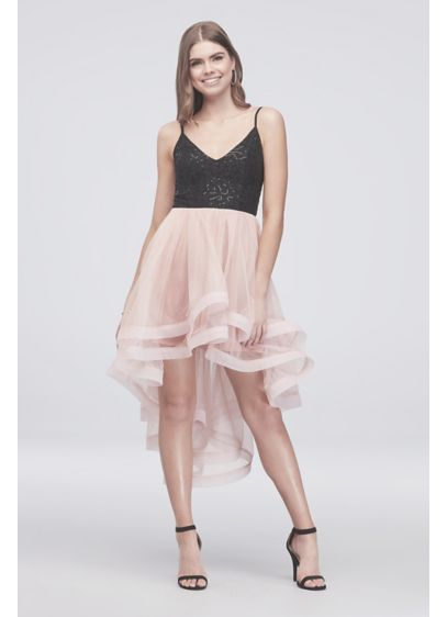 High Low Ballgown Spaghetti Strap Cocktail and Party Dress - Speechless