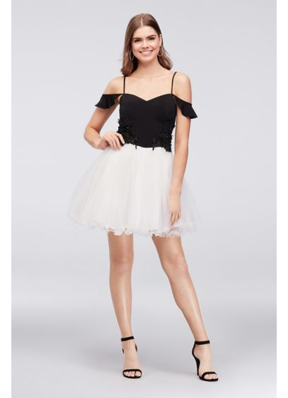 Short Ballgown Spaghetti Strap Cocktail and Party Dress - Speechless