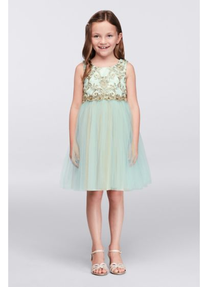 Short Yellow Soft & Flowy Iris and Ivy Bridesmaid Dress