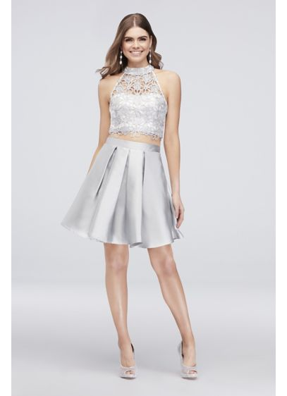 Short Ballgown Halter Cocktail and Party Dress - Speechless