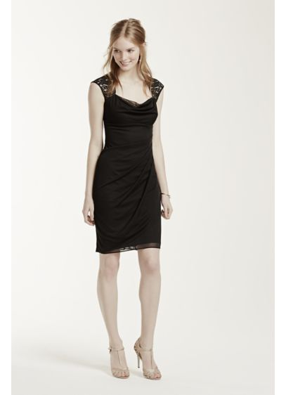 Short Sheath Cap Sleeves Cocktail and Party Dress - Xscape