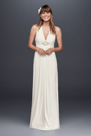 Slim Ivory Formal Dress