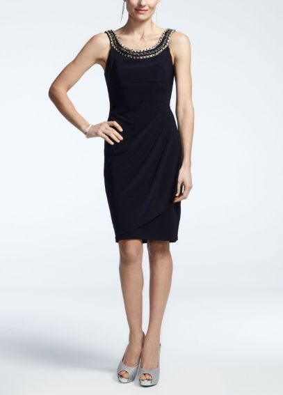 Sleeveless Jersey Dress with Chain Detail XS4968