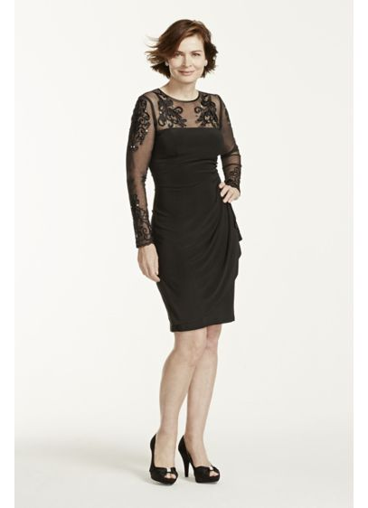 Short Sheath Long Sleeves Mother and Special Guest Dress - Xscape