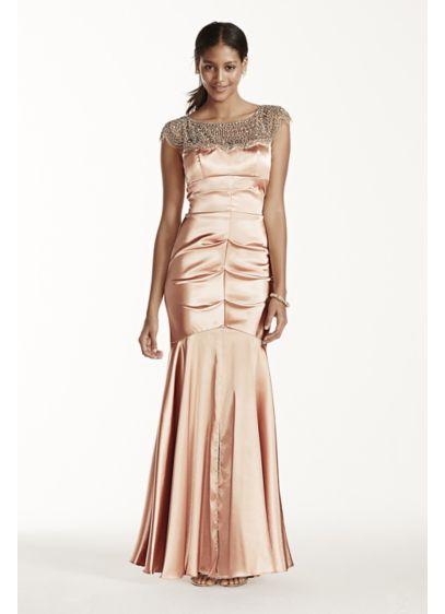 Long Mermaid/ Trumpet Cap Sleeves Formal Dresses Dress - Xscape