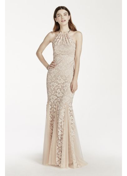 Long Mermaid/ Trumpet Halter Prom Dress - Xscape