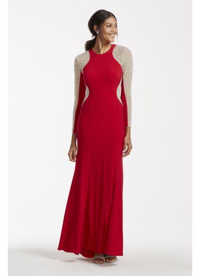 Long Sheath Long Sleeves Prom Dress - Xscape