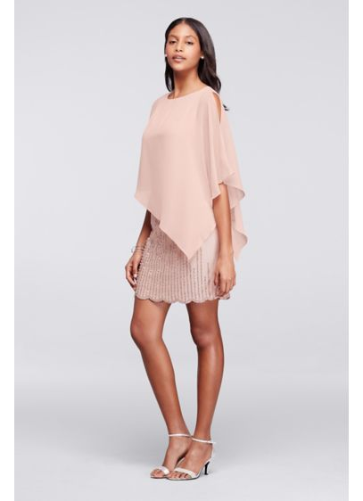 Short Sheath Elbow Sleeves Cocktail and Party Dress - Xscape