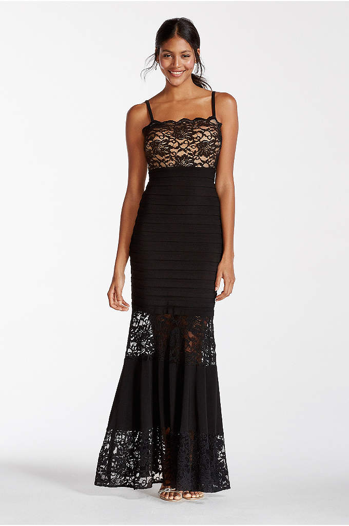 Illusion Lace Banded Dress