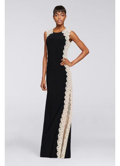 Long A-Line Cap Sleeves Formal Dresses Dress - Xscape
