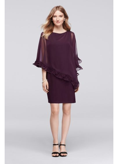 Short Sheath Capelet Mother and Special Guest Dress - Xscape
