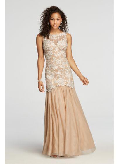 Long Mermaid/ Trumpet Tank Prom Dress - Xscape