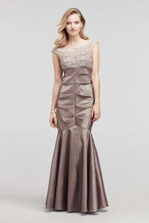 Mother of the bride dress style XS8549 in Taupe by David's Bridal