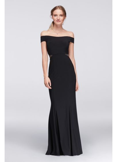 Long Sheath Off the Shoulder Cocktail and Party Dress - Xscape